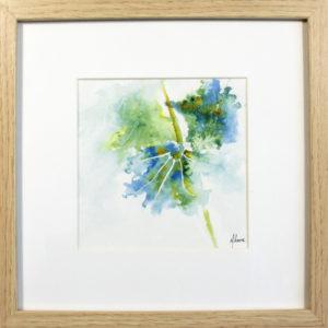 Dessin original à l'encre - Feuilles III, Isabelle Flourac, 50 €