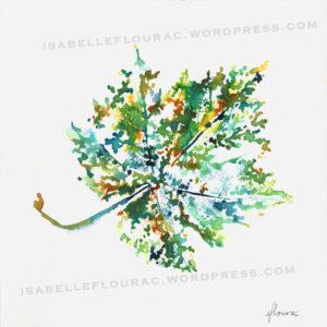 Feuilles II Histoires de Vigne - Isabelle Flourac - Dessin à l'encre inspiré par le Vignoble de l'Atrie
