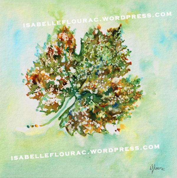 Feuilles IV Histoires de Vigne - Isabelle Flourac - Dessin à l'encre inspiré par le Vignoble de l'Atrie