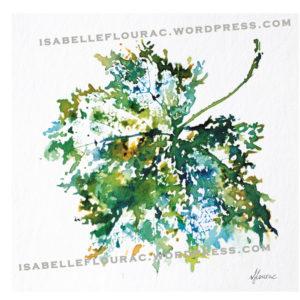 Feuilles VII Histoires de Vigne - Isabelle Flourac - Dessin à l'encre inspiré par le Vignoble de l'Atrie