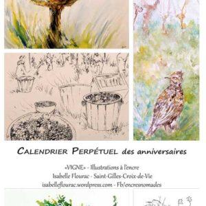 CALENDRIER-PERPETUEL-VIGNES-couv Isabelle FLourac