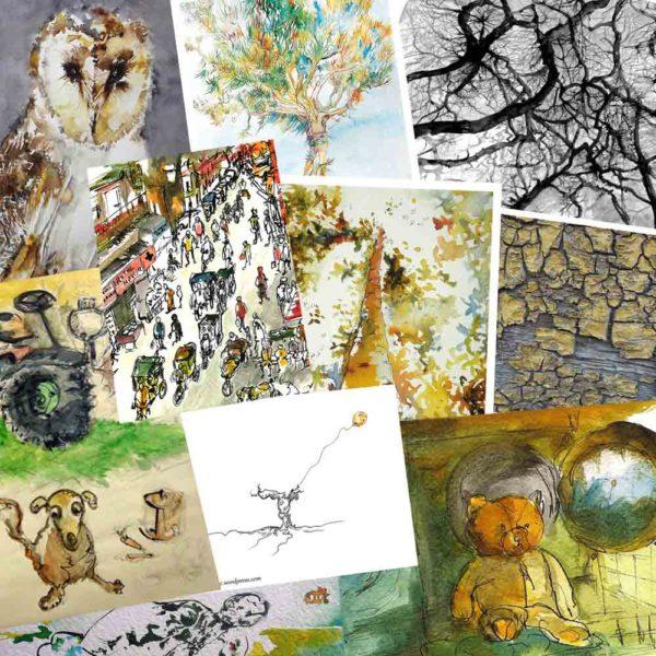 Lot-10-cartes-postales Isabelle Flourac